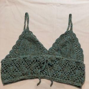 F21 Crochet Crop Top